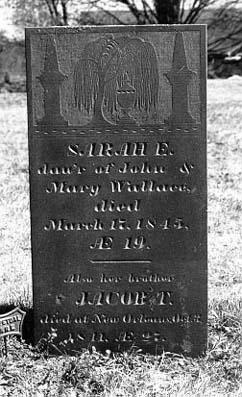 Sarah Wallace's grave